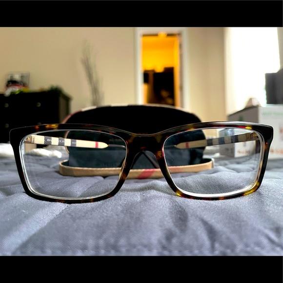 Burberry Unisex Tortoise Shell Eyeglasses Modern